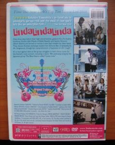 Linda Linda Linda DVD Back