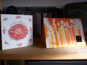 My birthday cards