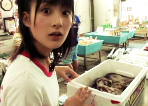 Momo with Tako-kun
