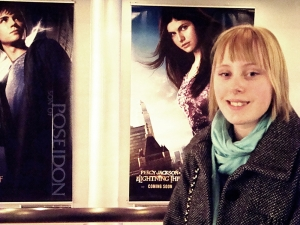 Me in front of the cool poster ^^