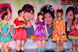 Saki, Risako, Momo, Chinami and Miyabi at the conference