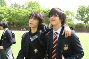 "Donghae and Kibum in ""Attack on the Pin-up Boys"""